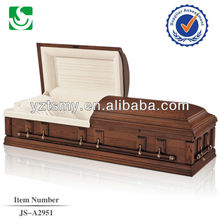 Specialized American style wood cremation casket wholesale