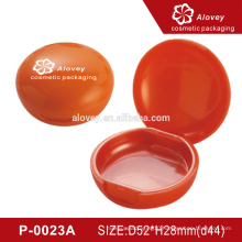 P-0023A Empty pressed powder case packaging red compact powder case