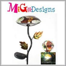 Estaca de jardín de metal de luz solar en forma de hongo de calidad superior