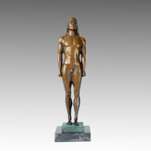 Nude Statue Male Kouros Bronze Sculpture TPE-368