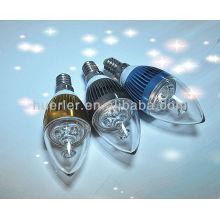 Cuerpo de cristal blanco puro e14 llevó la lámpara candel miniatura