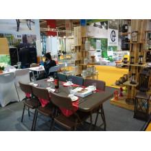 Новый дизайн-отель Rattan Стул и стол, Открытый Подержанный пластиковый складной плетеный стол из ротанга