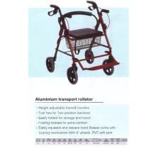 Aluminium Transport Roller mit Fußstütze