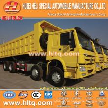 China-Lieferant RHD SINOTRUK 8X4 40tons Last 380hp versiegelt Muldenkipper mit hoher Qualität und konkurrenzfähigen Preis heißer Verkauf in Afrika.