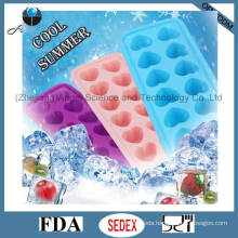12-Cavity Silicone Ice Cream Mold Also for Cake, Pudding, Lollipop and Chocolate Si21