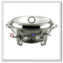 C090 Stainless Steel Oval Chafing Dish Set
