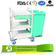 ABS Laundry Collecting Trolley with Casters