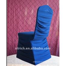 Couvertures de chaise de Spandex plissé de charme