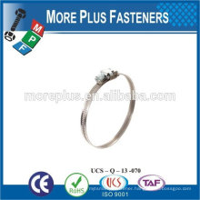 Made in Taiwan Stainless Steel strong stainless steel hose clamps thin hose clamp quick release hose clamp
