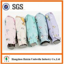 Neueste Design EVA Material benutzerdefinierte billig 5 Falten Regenschirm