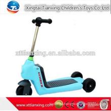 2015 Neues Modell Japanische Großhandel Günstige Qualität Einstellbare Rutschen Faltbare Drei-Rad Kinder Zwei Footed Kick Scooter