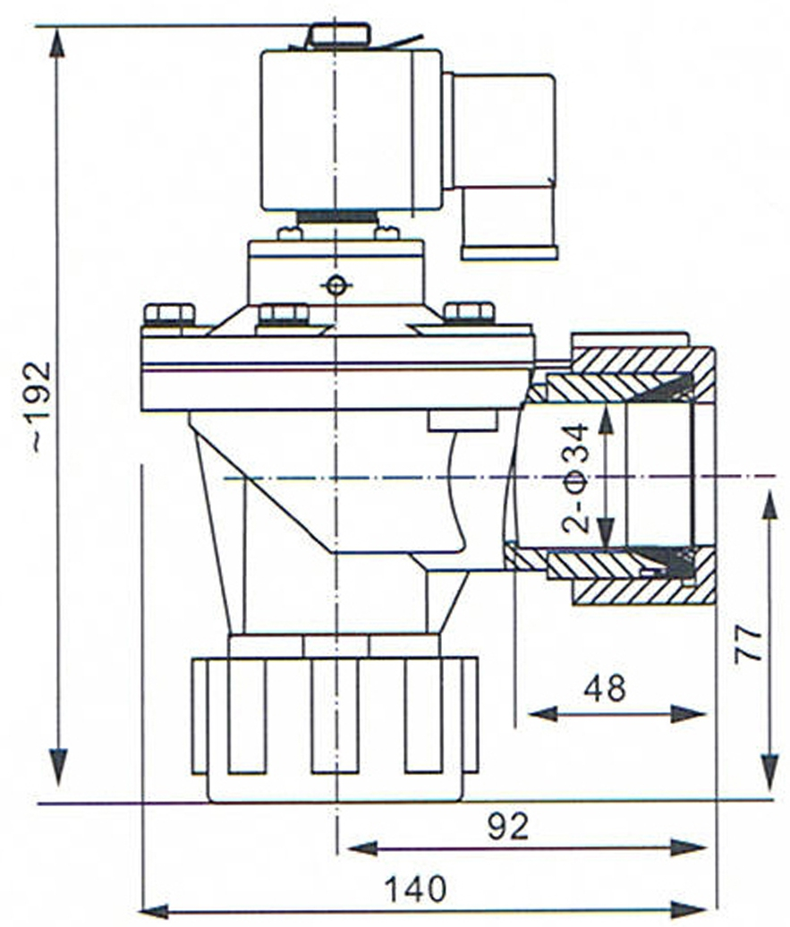 SBFEC Type DMF-ZM-25 Diaphragm Valve