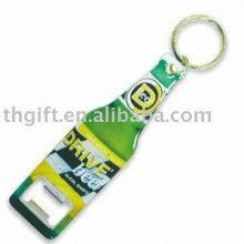 Porte-clés en bouteille en métal avec logo personnalisé