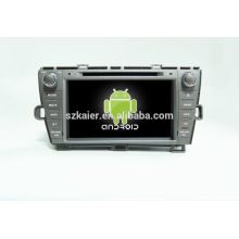 Quad core car gps navigation with wireless rearview camera,wifi,BT,mirror link,DVR,SWC for Toyota Prius