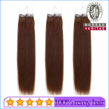 """8-30"""" All Colors 100g Straight All Details Cuatomized Brazilian Human Virgin Easy Pull Knot Thread Hair Extension"""