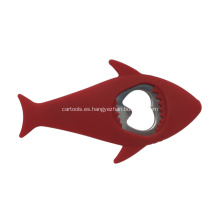 Abrebotellas de acero inoxidable con forma de pez