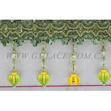 Arten von langen dekorativen Perlen Fransen