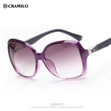 Cramilo 2016 негабаритных модные солнцезащитные очки с градиентной линзой с бабочкой