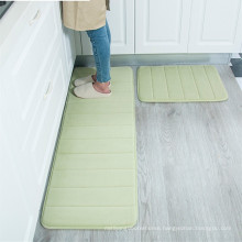 kitchen washable memory foam runner rug sets