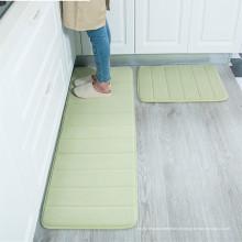 conjuntos de tapete de corredor de espuma de memória lavável cozinha