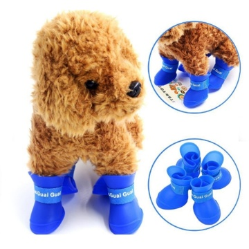 Pet Waterproof Shoes Outdoor siliconen regenhond schoenen