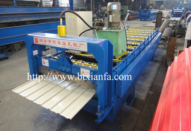 barrel type iron sheet making machine