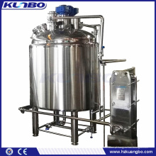 Chaleira de fermentação de cerveja de calor de vapor KUNBO aço inoxidável
