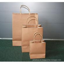Bolsos de papel reciclados Bolsa de papel de lujo de encargo para el regalo
