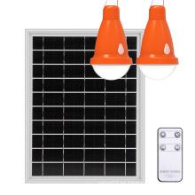 Sistema de iluminación de energía solar portátil con panel solar de 12 vatios