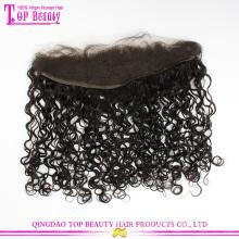 Novos produtos cabelo virgem malaio laço de orelha a orelha cabelo Frontal peças Kinky Curly laço Frontal
