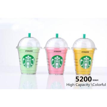 Kreative 5200mAh Kaffeetasse-Energie-Bank-tragbare Unterstützungsbatterie-bewegliches Ladegerät