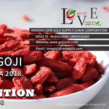 A Grade dark red dried fruit goji berries wolfberry