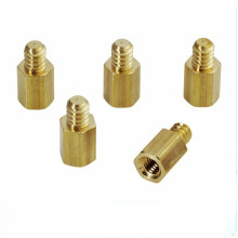 Spacer Lelaki Knurling Brass Round Pillar Standoff