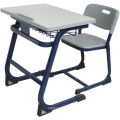 Furniture Plastic Students Single Desk and Chair with Open Front Metal Book Box