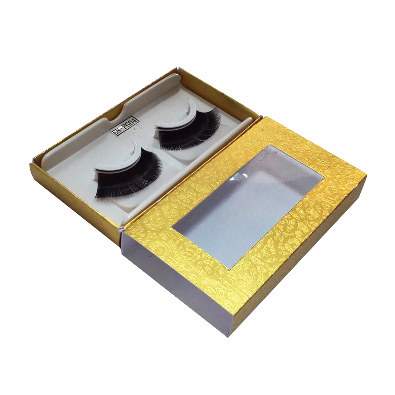 sliding box packaging for eyelashes