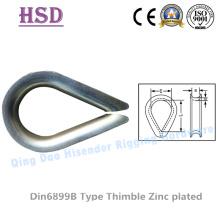 Dedal de DIN6899b acero carbono galvanizado para cable de acero