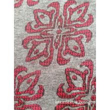 Monofil jacquard knitting fabric floral knit