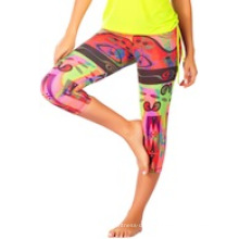 Printed Workout Capri Pants Crp-008