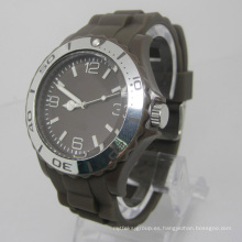 Nuevo reloj de moda plástico del movimiento del Japón de la protección del medio ambiente Sj073-2