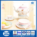 European popular wholesale new bone china porcelain tier cake stand fine dinner plates