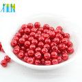 Perles en plastique rouges rondes de trou de vente directe d'usine perle pour l'art d'ongle