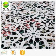 Flower Embroidery Lace 100% Polyester Fabric