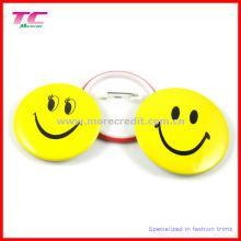 Kundenspezifisches Plastikknopf-Abzeichen mit Sicherheitsnadel