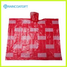 Promocional Adulto Allover Printing PE Rain Poncho Rpe-003