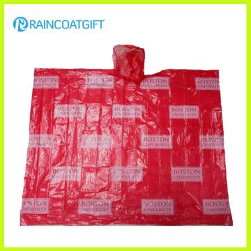 Рекламные взрослых повторяющийся печати PE дождь пончо ПЭС-003
