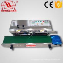 Semi automática contínua calor aferidor impulso máquinas com caráter impressora para embalagem sacos de selagem