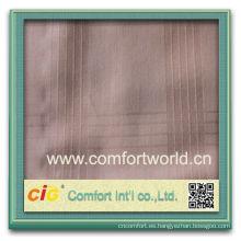 Moda nuevo diseño más reciente estilo poliester tela de lino del telar jacquar