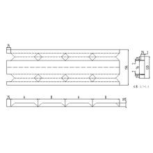 Fire Damper Frame Design integrado Máquina de laminação automática de rolos