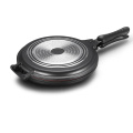 Black Aluminum Die-casting Double Grill Pan