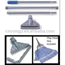 Soporte de fregona de aluminio y palo de fregona de 3 piezas de aluminio de 3 piezas